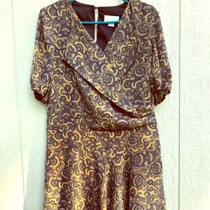 Jessica Simpson Navy & Gold dress size 6